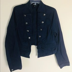 Torrid Military Navy Blue Jacket Size 1 Women's